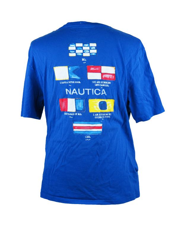 4cde07831 Vintage Nautica Blue Sailing Flag T-Shirt - 5 Star Vintage
