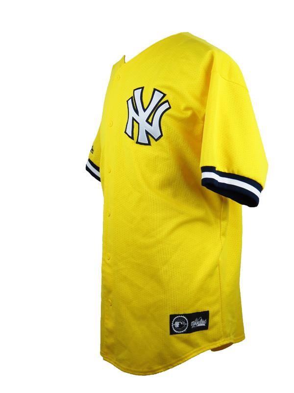 Vintage New York Yankees Yellow Majestic Baseball Jersey