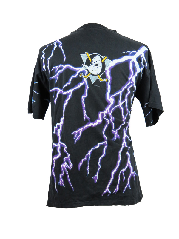 best sneakers 8894b 9894b Vintage Anaheim Mighty Ducks Lightning Bolt T-Shirt