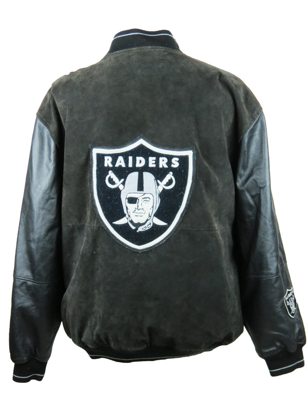 new product 8b84f 79e35 Vintage Carl Banks Leather Oakland Raiders Varsity Jacket