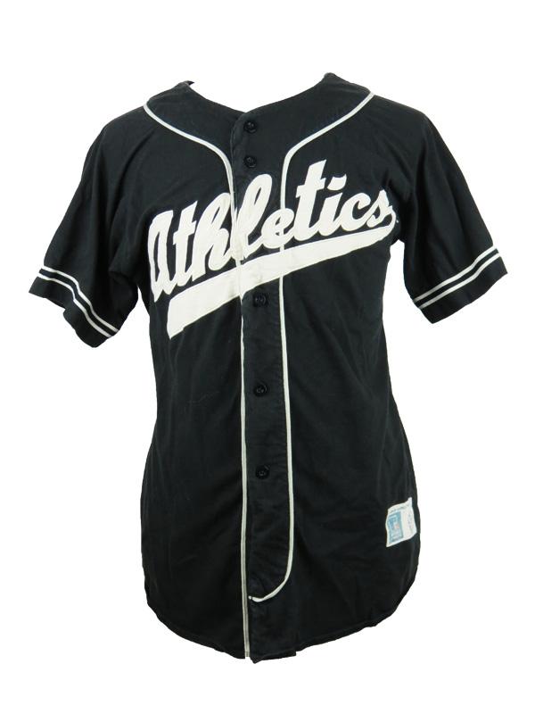 more photos ae97b dfb07 Vintage Oakland Athletics Black Baseball Jersey