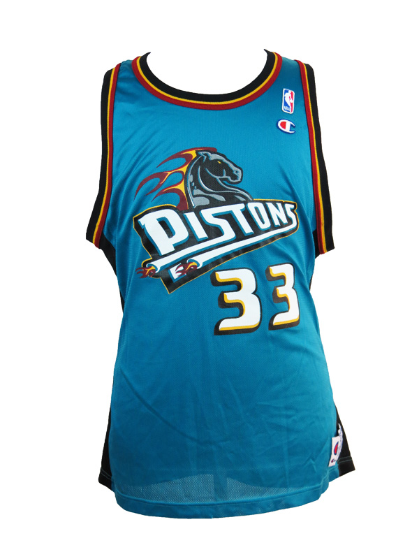 low priced c14e6 fc583 Grant Hill Detroit Pistons Champion Teal Jersey XL
