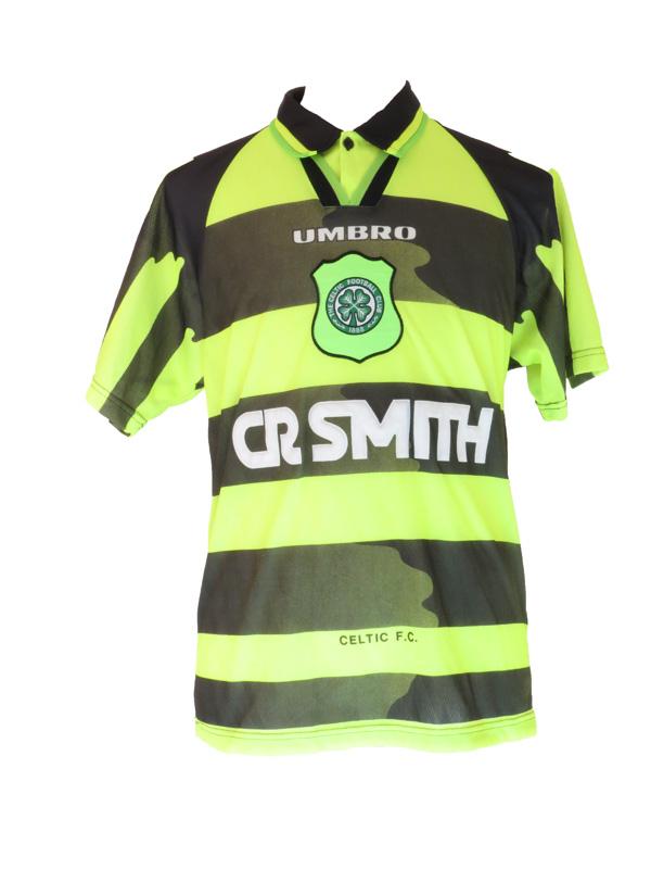 buy online 99f86 c9b2e Vintage Umbro Neon Camo Celtic Football Club Jersey