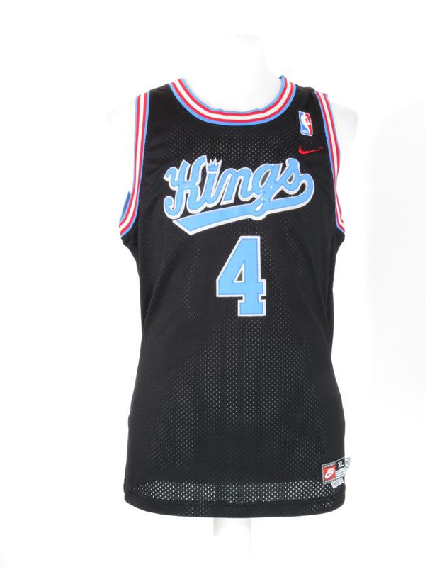 huge discount c87d6 69701 Black Sacramento Kings Chris Webber Throwback Nike Jersey