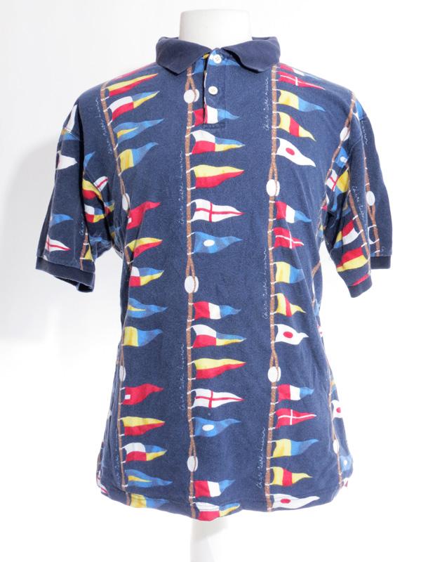 Chaps Ralph Lauren Nautical Flag Polo Shirt - 5 Star Vintage