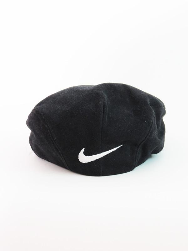 Vintage Snapback Hats >> Vintage Nike Black Beret Hat - 5 Star Vintage