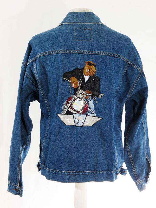 Joe Camel Cigarettes Motorcycle Denim Jacket 5 Star Vintage