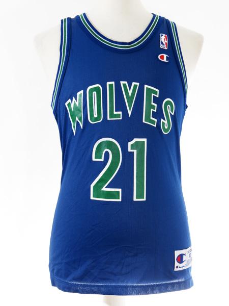 online retailer 8769a 3e31f Kevin Garnett Minnesota Timberwolves Throwback Champion Jersey