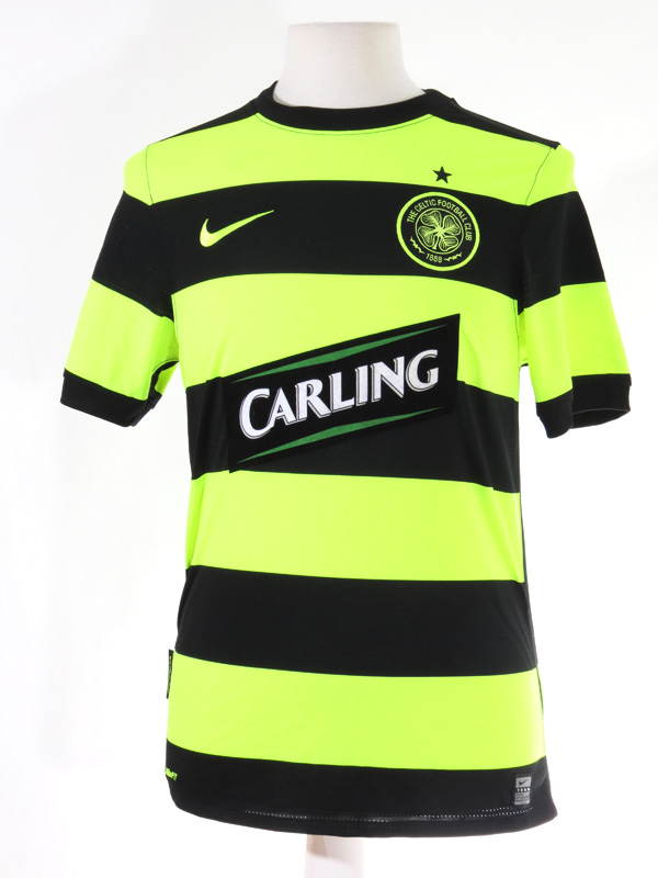 new style c3aee bbaf1 Celtic Football Club Nike Striped Florescent Jersey
