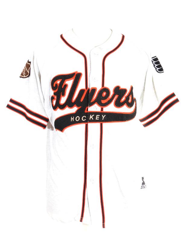 cheaper fb335 48f1f Vintage Philadelphia Flyers Grey Starter Baseball Jersey