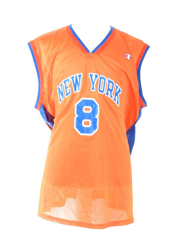 hot sale online c8fe3 e129c New York Knicks Latrell Sprewell Champion Jersey XL