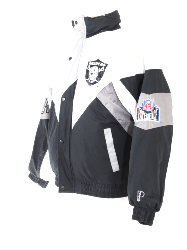 reputable site 9df47 5fc4f Pro Player Oakland Raiders Puffy Sports Jacket