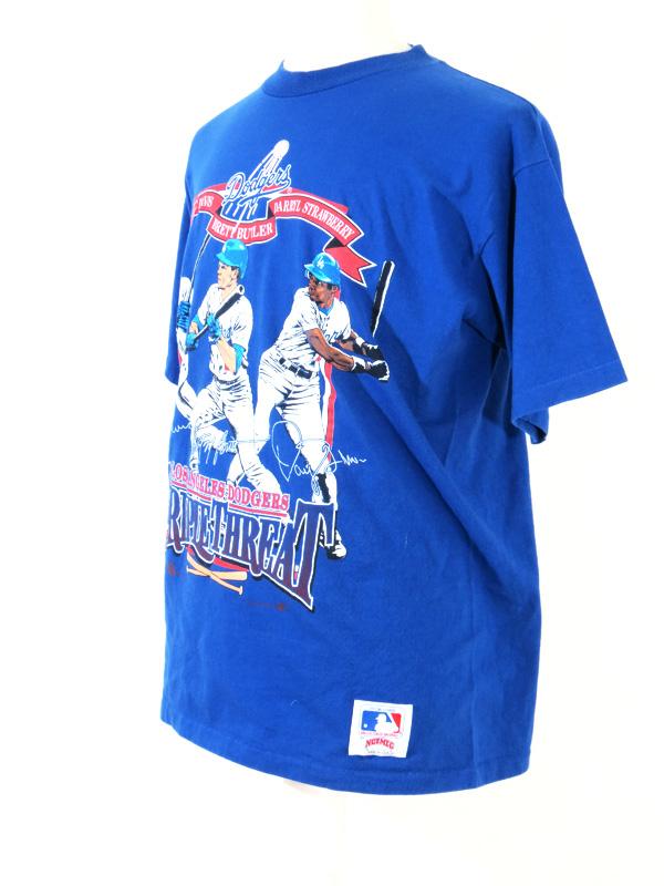 premium selection 62e87 28940 LA Dodgers 'Triple Threat' Eric Davis, Brett Butler, Darryl Strawberry Shirt