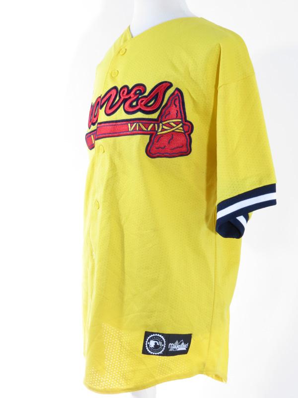 8cfd1d211 Atlanta Braves Yellow Baseball Jersey XL - 5 Star Vintage