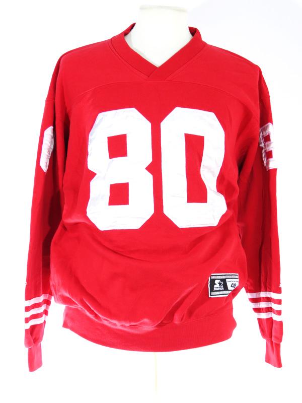 check out 8b57b 0e7eb Jerry Rice SF 49ERS Starter Long Sleeve Crewneck Jersey