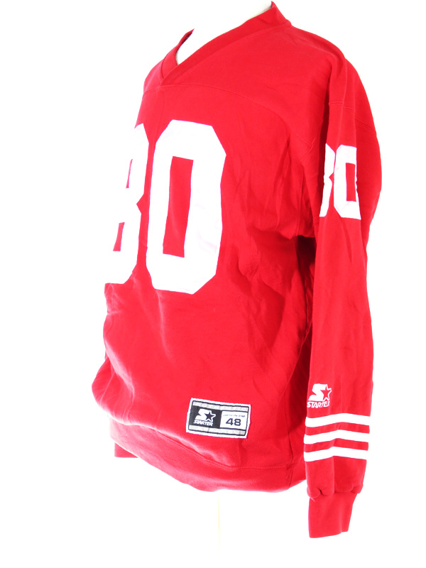f31565015ba Jerry Rice SF 49ERS Starter Long Sleeve Crewneck Jersey - 5 Star Vintage