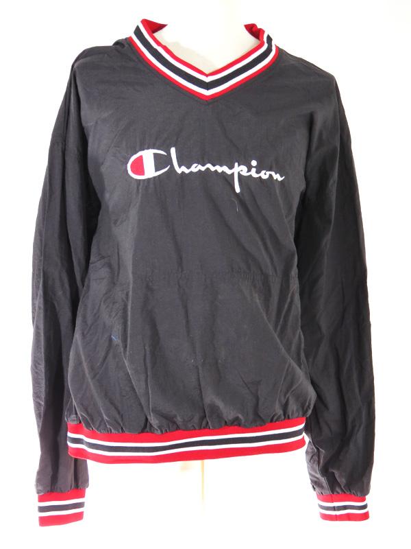 Champion Black Embroidered Pullover Windbreaker 5 Star