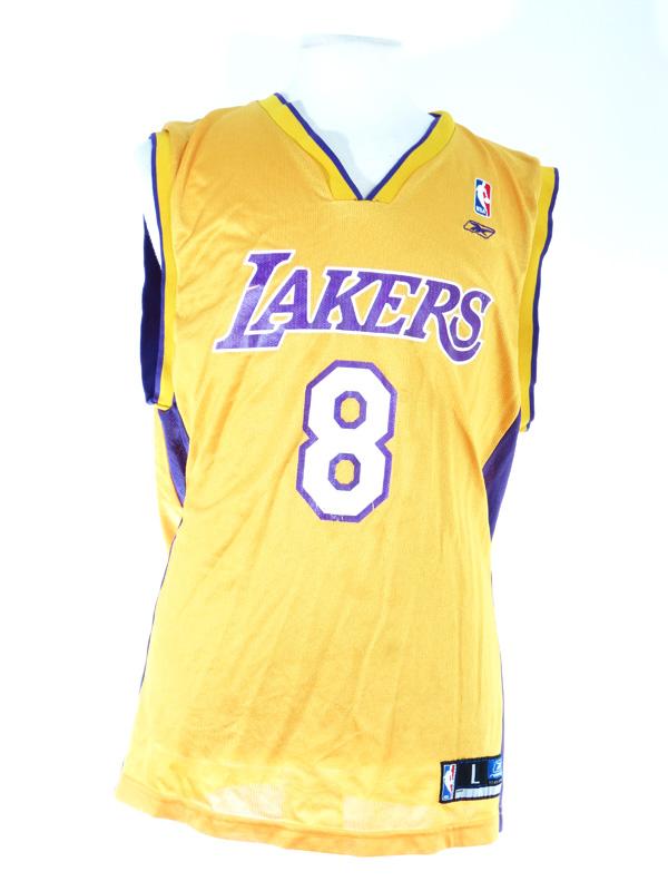 new arrival ea4ef bb958 LA Lakers Kobe Bryant '8' Reebok Yellow Jersey