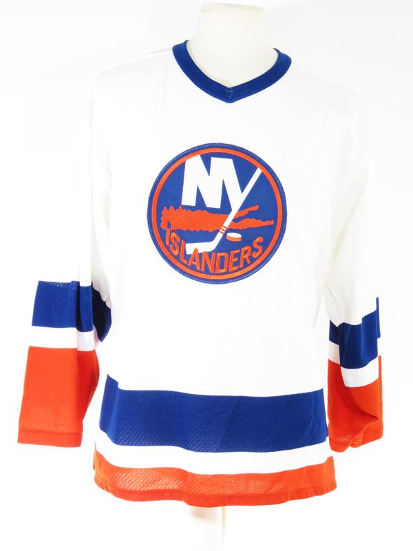 the latest b80e7 6ff0c NY Islanders Orange Blue NHL Hockey Jersey