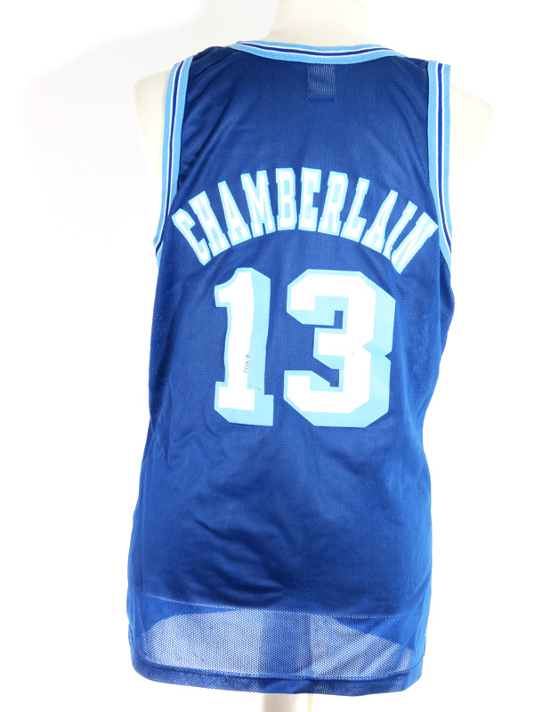 new product 6f3b8 e4232 90s Los Angeles Lakers Wilt Chamberlain Throwback Champion Jersey