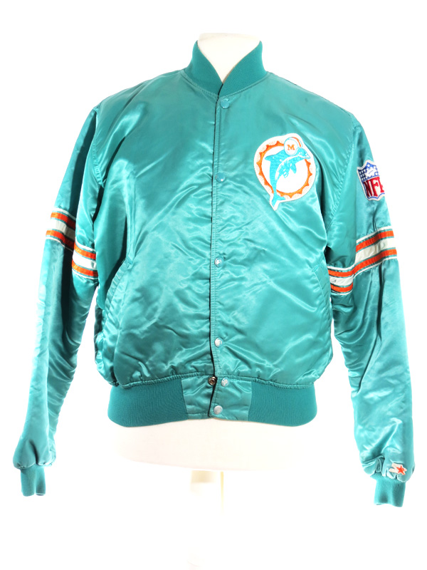 huge selection of d204f 7a7a3 90s Miami Dolphins Teal Satin Starter Jacket