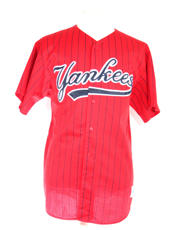 first rate 58e6a 560ed NY Yankees Red Pinstriped MLB Jersey XXL