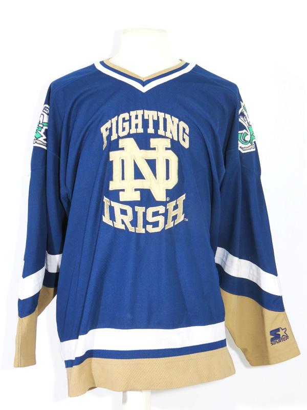 various colors 56377 2bbaf Notre Dame Fighting Irish Starter Hockey Jersey