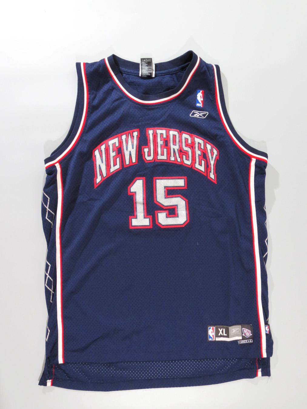 3a34e9ff0ec New Jersey Nets Vince Carter Reebok Mesh Jersey - 5 Star Vintage