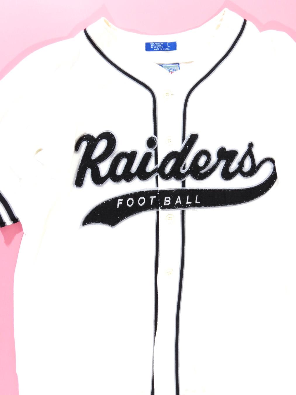 meet 2ed1f 98ac6 90s Oakland Raiders Starter Baseball Jersey Large