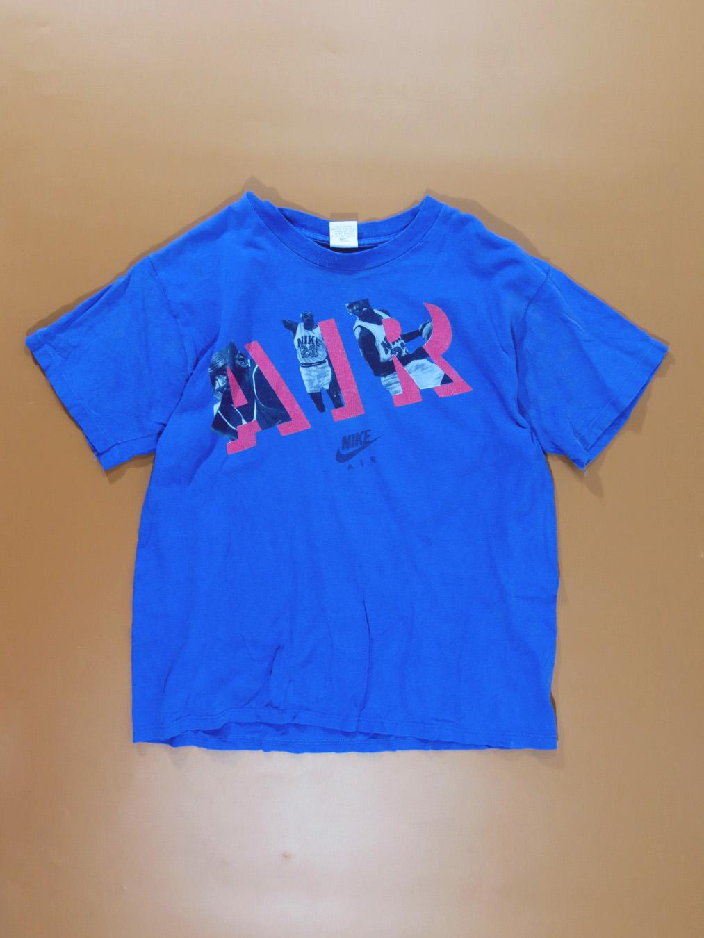 90s Nike Air Michael Jordan Blue T Shirt 5 Star Vintage