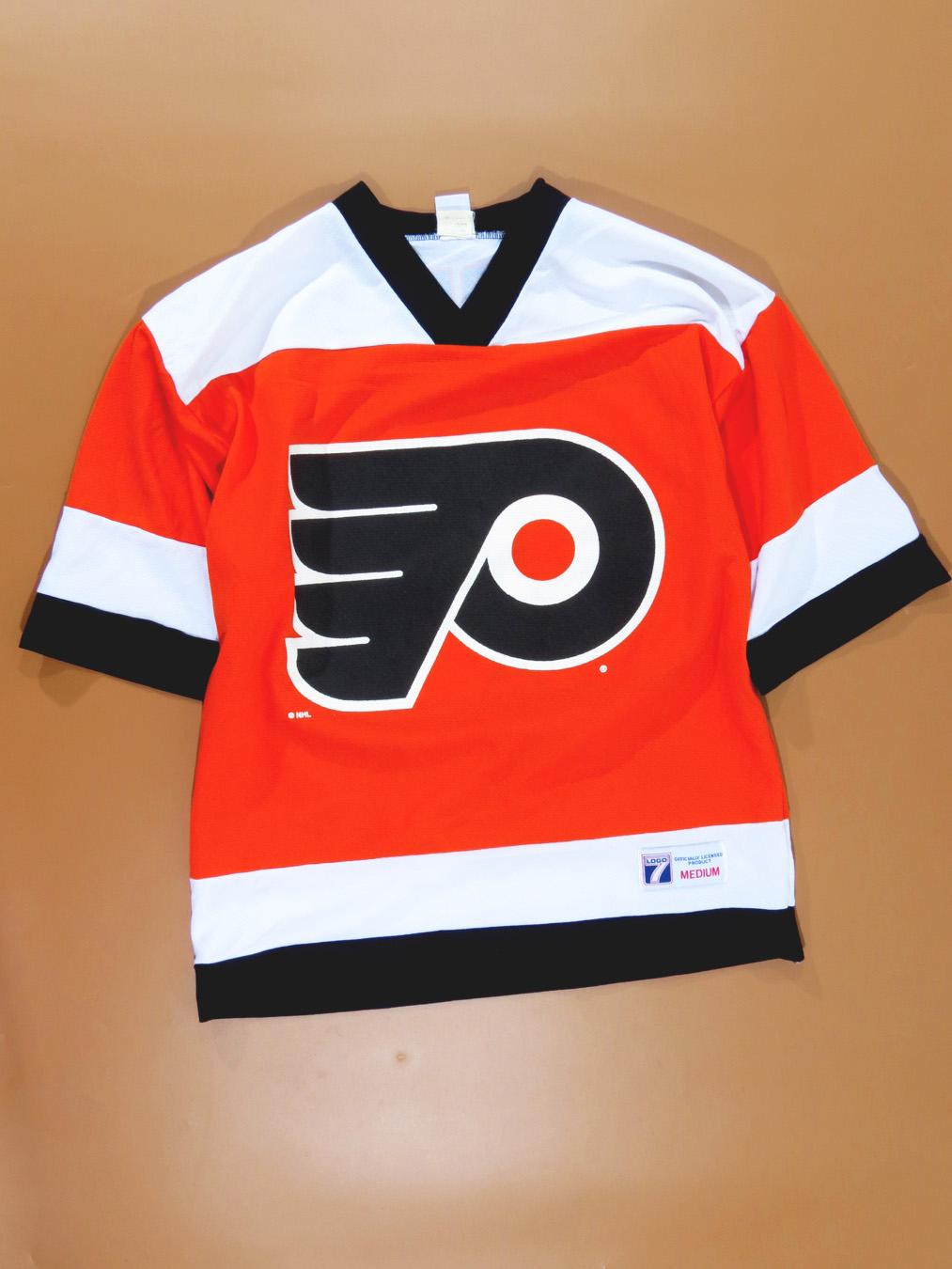 buy online b3870 b9384 90s Philadelphia Flyers Eric Lindros Short Sleeve Hockey Jersey