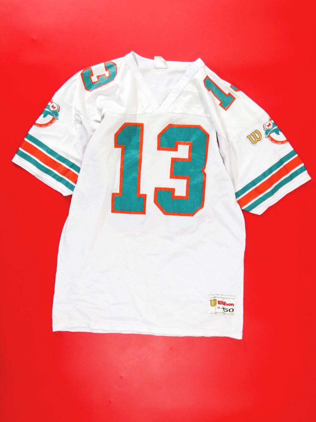 new product 35cb3 134d4 90s Dan Marino Miami Dolphin Mesh Wilson Jersey